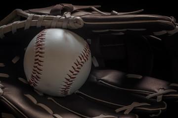 Baseball Glove Bat And Ball photo