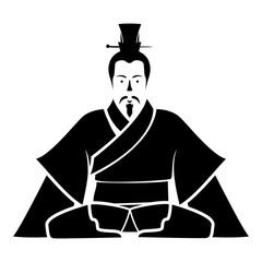 Emperor of China icon black icon flat illustration