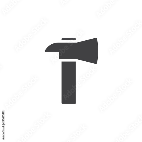 Firefighter Axe Icon Vector Filled Flat Sign Solid Pictogram