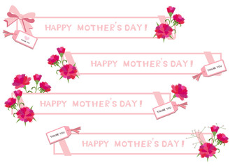 母の日のロゴデザイン。バナーデザイン。素材集。