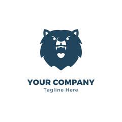 Bear Head Logo Template