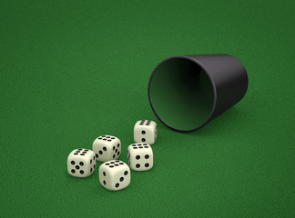 Dice game. Combination of dice - Poker