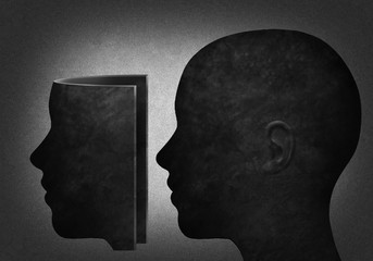 Head with maske