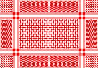 Arabic cotton scarf with geometric motifs.