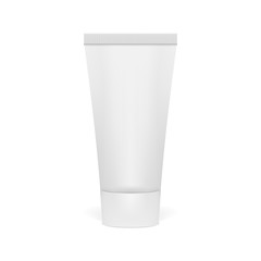 Realistic 3D Clear Tube Of Cream