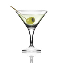 Glass Goblet For Martini Vermouth Cocktails