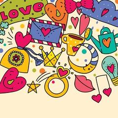 Cute love postcard.