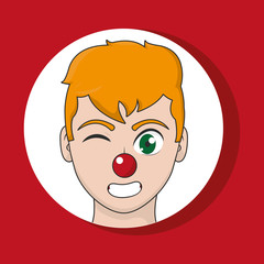 Clown cartoon design