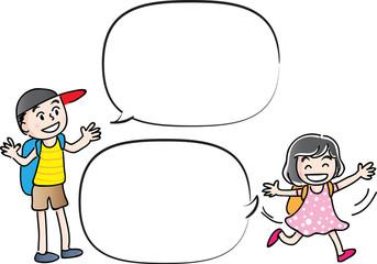 kids with speech bubble