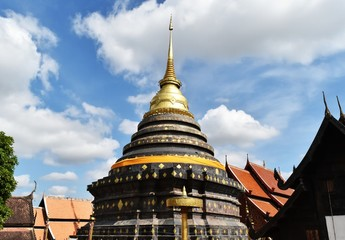Phra That Lampang Luang pagoda in Lampang province in northern of Thailand
