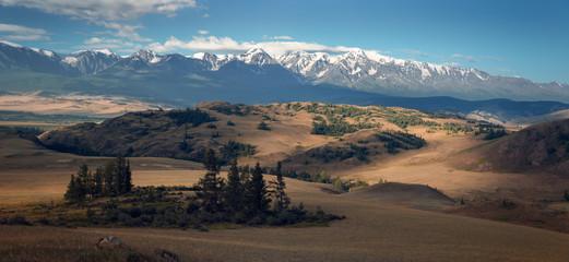 View of Chuya ridge of Altai mountains, West Siberia, Russia