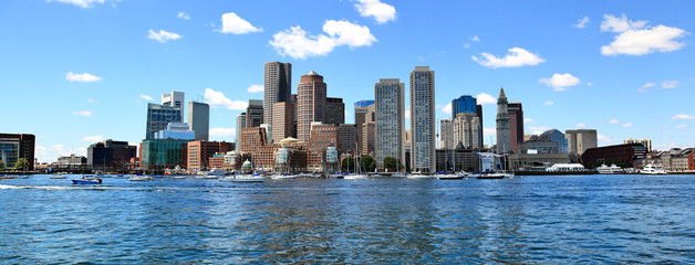 Boston Skyline Panoramic Wall mural