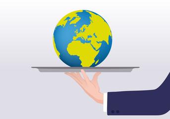 terre - environnement - plateau - présentation - concept - globe - planète - climat - écologie