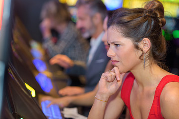 woman unhappy with her gambling result