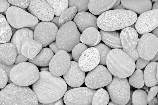 Abstract natural background with black and white pebble stones