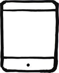 Tablet Computer White Board Illustration