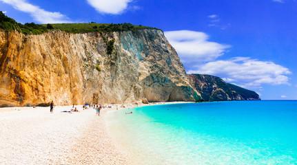 Best beaches of Greece- Porto Katsiki in Lefkada, Ionian islands