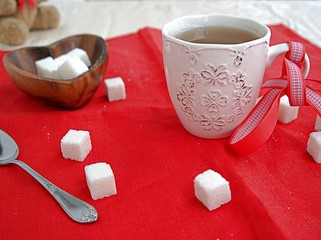 A cup of tea and sugar