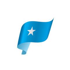 Somalia flag, vector illustration