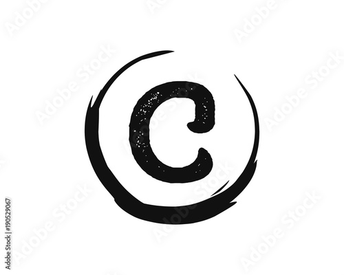 Classic Circle With Initial Name Letter C Icon Symbol Logo Vector