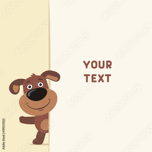 Funny puppy dog looks out over the fields to text template with funny puppy dog looks out over the fields to text template with puppy dog for m4hsunfo