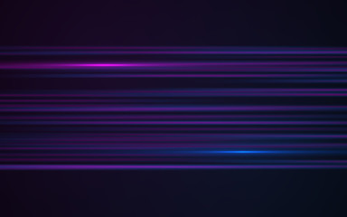 Abstract blue laser streak light on black background.