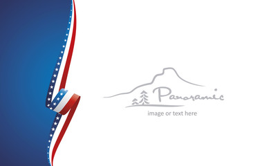 USA abstract flag brochure cover poster wall mural background vector