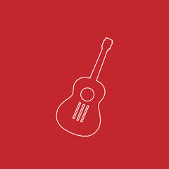 acoustic guitar line icon