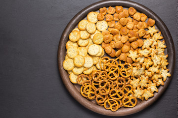 assortment of snacks on a plate