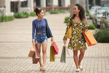 Female friends enjoying shopping