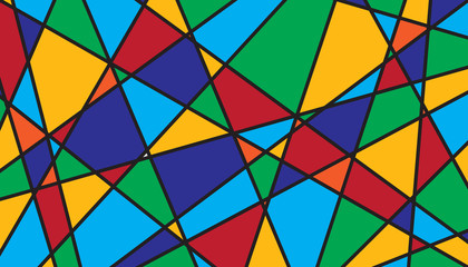 Abstract geometric stained glass background