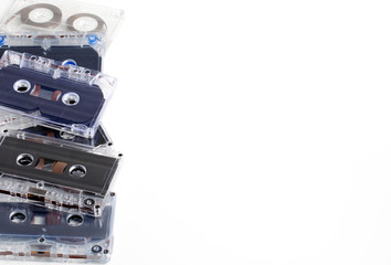 A lot of old audio cassettes