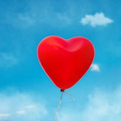 Herzluftballon einzeln