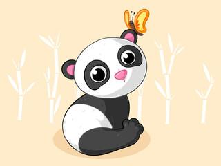 Niedlicher Comic Panda