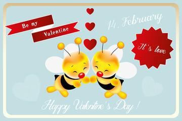 Be my valentine little bee