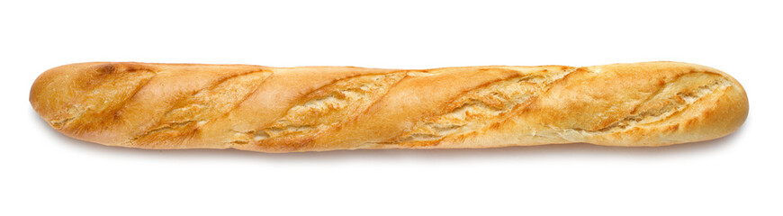 french baguette isolated on white background Wall mural