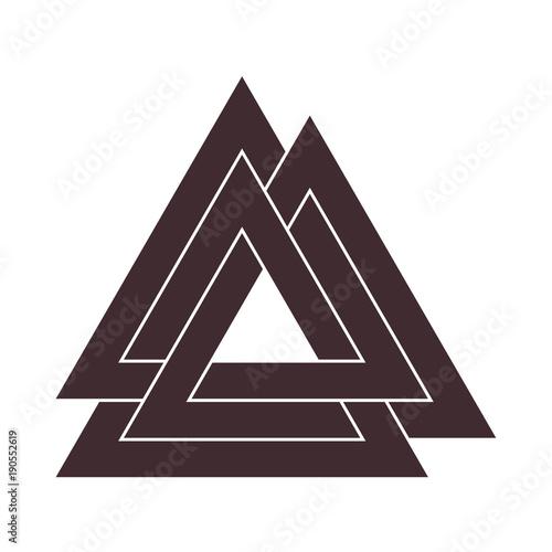 Vector Triangle Illustration Valknut The Symbol Of Germanic