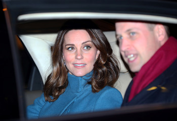 Britain's Prince William and Catherine, the Duchess of Cambridge, leave in their car after visiting 'MESH', a work-space for start-up tech companies in Oslo