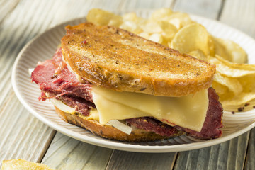 Savory Homemade Corned Beef Reuben Sandwich