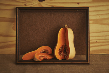 Frame with pumpkin