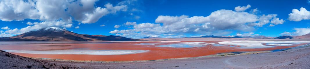 Laguna Colorada - salt lake in the southwest of the Altiplano of Bolivia