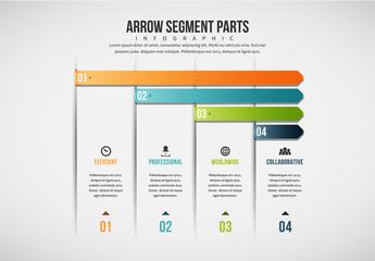 Four-Step Arrow Infographic 3