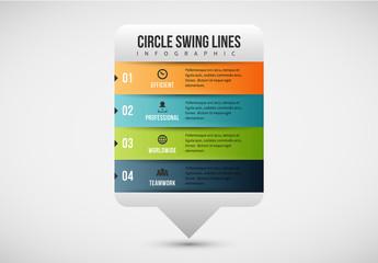Multicolored Talk Bubble Infographic 1