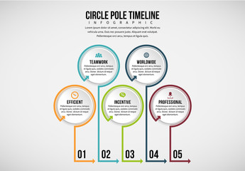 Standing Line and Circle Infographic 1