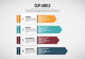 Arrow Clip Label Infographic 1