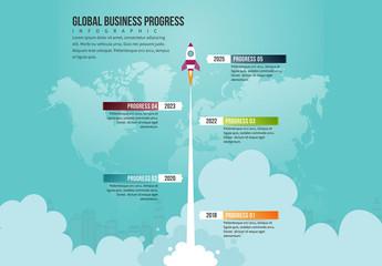Rocket Illustration Infographic 2