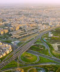 Fototapete - Iran road overpass. Tehran