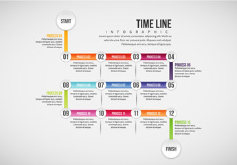 Calendar Style Timeline Infographic 1