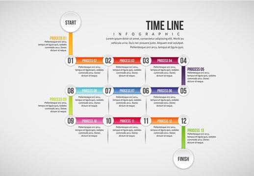 Calendar Style Timeline Infographic 1