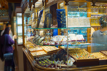 Jewelry shops. Tehran Grand Market